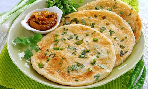 Healthy vegetable paratha