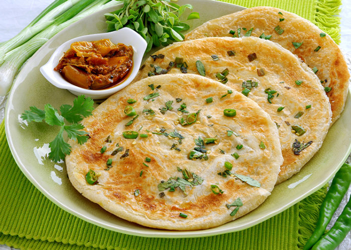 Healthy vegetable paratha